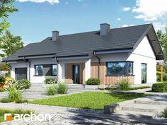 Dom w kostrzewach 3 (A) Pergola, Garage Doors, Jehovah, Outdoor Decor, Website, Home Decor, Ideas, Modern, Homemade Home Decor