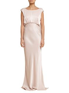 7c16b6d27f546c Simple gown! Nude Maxi Dresses