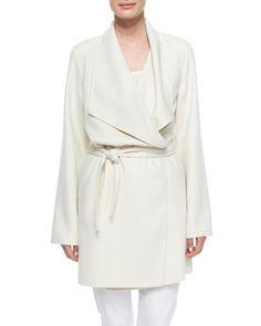 Sofia cashmere wrap coat Neiman Marcus