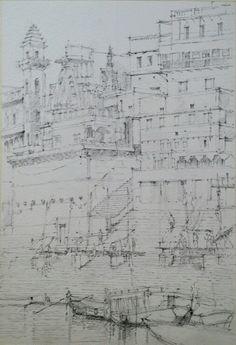 #Sketch #drawing #연필드로잉 #연필 #소묘 #스케치 #드로잉 #풍경 #ganges #scape