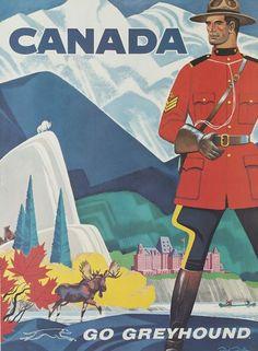 Go Greyhound to Canada - vintage travel posters (via Claude Benard)