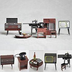 1:12 Miniature Vintage Living Room Furniture Set