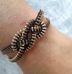 Knotted Up Zipper Bracelet by ZipperChic on Etsy, $6.00