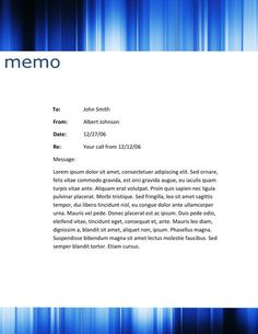 Header Waves  Memorandum Templates In Word    Header