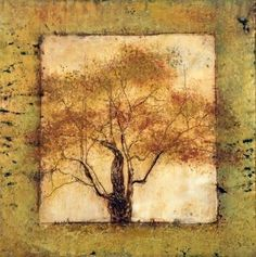 Tree (Encaustic Painting)