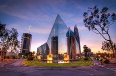 The Crystal Cathedral (California). Dissenyada pels arquitectes Philip Johnson i John Burgee.