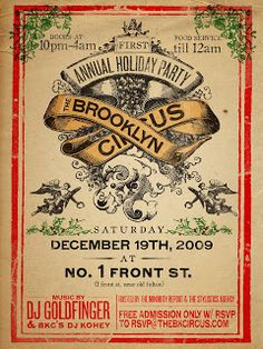 holiday party flyer google search