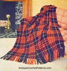 Crochet this highland home afghan and use it as a throw on your couch or a wrap  for around your shoulders on a cold winter day..