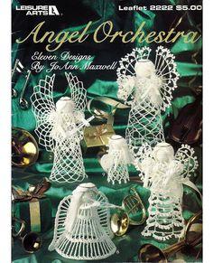 Angel orquesta-ganchillo patrón libro - ocio artes folleto 2222