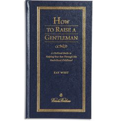How to Raise a Gentleman was published exclusively for Brooks Brothers and will prove to be a light-hearted yet invaluable reference book for parents who find the correct etiquette important. The subtitle of this leather-bound volume, 'A Civilised Guide to Helping Your Son Through His Uncivilised Childhood,' gives insight into its tongue-in-cheek tone. Keep it close at hand to guide you when a situation arises, or give it as a distinguished gift to friends expecting a son.