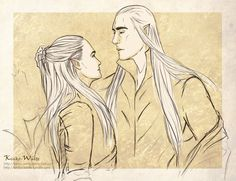 Legolas and Thranduil                 Thranduil: How many times I told you that you must respect me? I'm your father and King! Legolas: I... I am so sorry,  please forgive me Ada... please Thranduil: *giggles* It's allriht... I made you a joke! Little silly leaf... *Kiss Legolas's forhead* Legolas: I love you ada *embrace Thranduil*                Thranduil: Me too my little green leaf!!