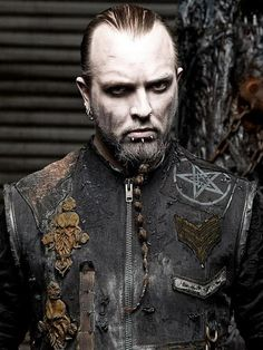 Grim and frostbitten jacket by Junker Designs, worn by the talented Silenoz of Dimmu Borgir.
