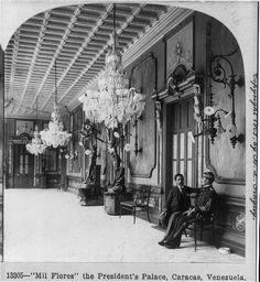 Foto: Año 1902, Palacio de Miraflores. Caracas, Venezuela.