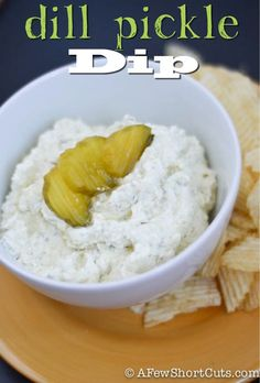 Dill Pickle Dip Recipe. Such a fun and yummy appetizer. Plus super easy to make!