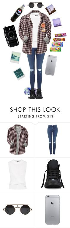 """Blue jeans, white tee, black converse. You know she gets it right. #5sos"" by stfu-its-becky ❤ liked on Polyvore featuring Old Navy, Converse, Polaroid, Retrò, 5sos, 5secondsofsummer and 5sosoutfits"
