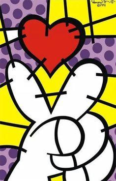 Romero britto Peace Graffiti Painting, Graffiti Art, Street Art Love, Different Forms Of Art, Ceramic Art, Ceramic Teapots, Arte Pop, Pin Up Art, Summer Art