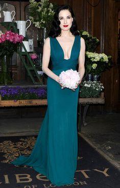 0c05a71ddfd Dita Von Teese Photos Photos  Dita Von Teese Launches Her New Perfume. Celebrity  Prom DressesCelebrity ...