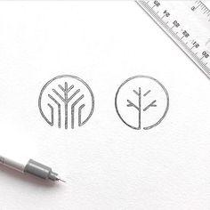 Logo inspiration: Hire quality logo and branding designers at Twine. Twine can h. - Logo inspiration: Hire quality logo and branding designers at Twine. Twine can help you get a logo, - Logo Inspiration, Trendy Tree, Logo Minimalista, Logo Sketches, Wood Logo, Tree Logos, Marca Personal, Identity Design, Brand Identity
