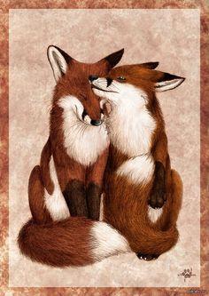 Art of Silvixen — Coupledom Beautiful Creatures, Animals Beautiful, Cute Animals, Fuchs Baby, Fuchs Tattoo, Wolf Hybrid, Fantastic Fox, Fox Spirit, Fox Pictures