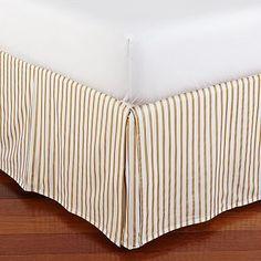 The Emily + Meritt Metallic Stripe Bed Skirt