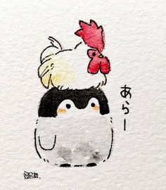 learning to draw Cute Animal Drawings, Kawaii Drawings, Cute Drawings, Drawing Sketches, Fish Drawings, Animal Sketches, Pinguin Illustration, Cute Illustration, Arte Sketchbook