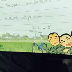 """Do well... Hwaiting to me, too... from Trainee, Kim Jaejoong"" Lol, so adorable ! #김재중"