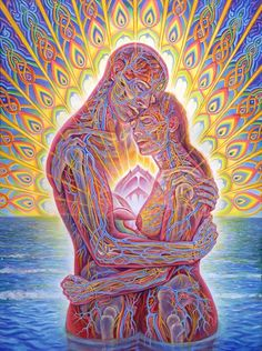 How I feel when I'm around you... <3  Art by Alex Grey