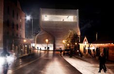 international architecture practice BIG architects have designed the winning proposal for the new kimball art center in park city, utah, USA. Computer Architecture, School Architecture, Amazing Architecture, Big Architects, Win Competitions, Urban Fabric, Exhibition Space, Dezeen, Community Art