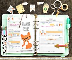 pics and cheesecake: Paper Issues - Planner Fox