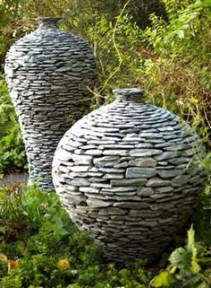 decorative grey stones garden landscaping - Google Search