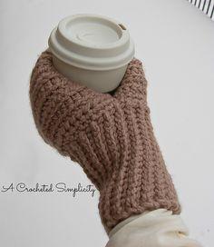 "Ravelry: ""Knot Knit"" Coffee & Drink Mitt pattern by Jennifer Pionk"