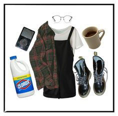 """""""me @ school"""" by sspaceprincess ❤ liked on Polyvore featuring Dr. Martens and 3.1 Phillip Lim"""