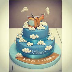 Helicopter cake. Birthday cake. Helikopter pasta. Doğum günü pastası. Butik pasta.