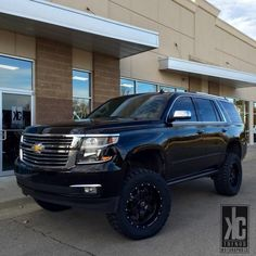 2015 Tahoe lifted. Fabtech   BMF wheels   Toyo tires