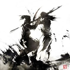 Passion Packed Chinese Ink Drawings by Rola Chang | inspirationfeed.com