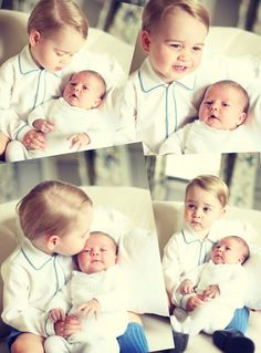 The first official portraits of Prince George & Princess Charlotte.