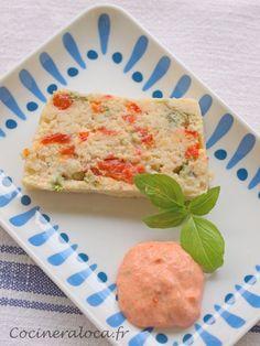 terrine de poisson aux poivrons et basilic