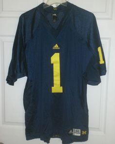 f4dbf4a59ecb0 MICHIGAN WOLVERINES Football Jersey Authentic ADIDAS Sewn 52 XL NCAA  College  1