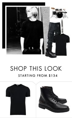 """Ootd : - sits in my garage drumming loud -  xo clark"" by drunken-dreamer ❤ liked on Polyvore featuring Dolce&Gabbana, Common Projects, Firth, Mapex, men's fashion and menswear"