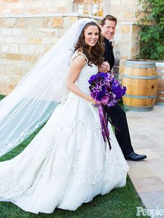 Jeff Dunham Married to Audrey Murdick: Photos : People.com PURPLE FLOWERS ARE BEAUTIFUL!