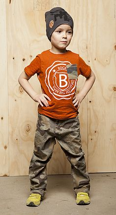 Boca Jeans paired with print shirt and beanie | #kidstylin