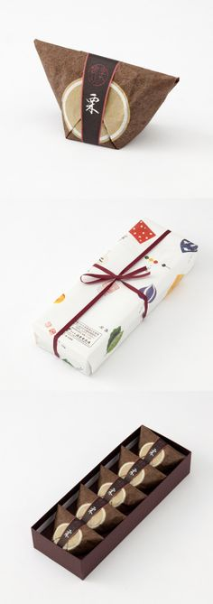 福寿堂秀信の「季乃實 栗」Lovely Asian inspired something to eat #packaging (I think) PD