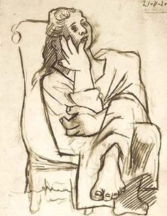 Picasso 1920s | Picasso 1920 Femme assise