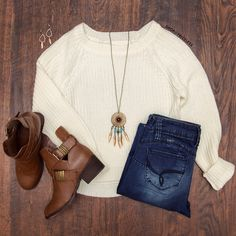 Whisper Sweater Top - Ivory from Shop Priceless. Shop more products from Shop Priceless on Wanelo. Passion For Fashion, Love Fashion, Womens Fashion, Crazy Fashion, Teen Fashion, Fall Winter Outfits, Autumn Winter Fashion, Autumn Style, Fall Fashion