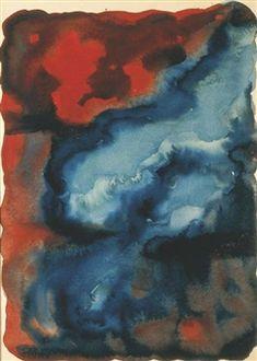 Red and Blue No. I By Georgia O'Keeffe ,1916