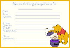 Image Result For Baby Winnie The Pooh Shower Program