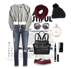 """""""Sport"""" by busraabusalih on Polyvore featuring Wood Wood, AG Adriano Goldschmied, Vans, Givenchy, BCBGMAXAZRIA, Burton, Chanel, YSL, vans and sport"""