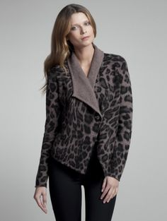 White and Warren Leopard Jacket Fawn