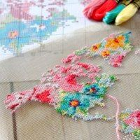 a framed floral cross-stitch map on new stitchable mesh from DMC!Make a framed floral cross-stitch map on new stitchable mesh from DMC! Cross Stitch Art, Modern Cross Stitch, Cross Stitch Designs, Cross Stitching, Cross Stitch Embroidery, Embroidery Patterns, Hand Embroidery, Cross Stitch Patterns, Cross Stitch Frames