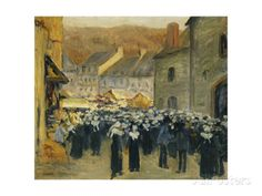 The Market at Pont-Aven; Le Marche a Pont-Aven, 1886 Giclee Print by Emile…